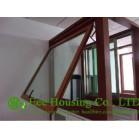 Aluminum awning windows, top-hung windows, wood grain windows