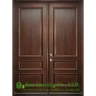 Classic Double Leaf Solid Mahogany Wood Entry door