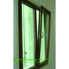 German ROTO / Siegenia Hardware Tilt & Turn Wood Clad Aluminum Window