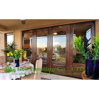 French Patio classic craft timber door, with clear safety glass