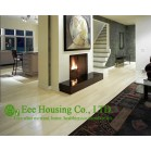 Natural Color Bamboo Flooring,Vertical-compressed Structure,Click system,Semi-matt Finish