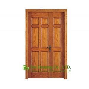 Elegant Raised Panel Timber Veneer Door An Unequal Double Door Primary Secondary Door