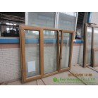 Tilt and Turn Wood Clad Aluminum Window with Insulating Double Glass For Villas/Apartment/Condos