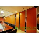 Melamine Finished Movable Partition Wall For Meeting Room, Wood Grain Color