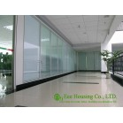 Fixed Glass Partition For Office With Louvers, Double Glazing