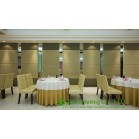 Soft Fabric / Leather Finished Movable Partition Wall For Dinning Hall, Good Sound Insulation