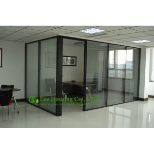 Aluminum Frame Fixed Partition For Office With Louvers