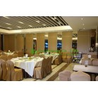 80mm Thickness Melamine Finished Movable Partition Walls For Dinning Hall, With Casement Door