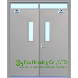 Double Leaf Swing Steel Fire Rated Door With Glass Vision