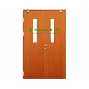 60 Minutes Double Leaf Swing Commercial fire rated wooden doors With ...