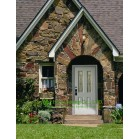 Durable Entrance Fiberglass SMC door With Glass For Villas/Apartment, Energy efficient