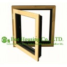Casement( Swing ) Type Wood Clad Aluminum Window with Insulating Double Glass For Villas, Inside Opening