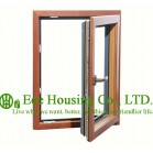 Casement ( Swing ) Type Wood Clad Aluminum Window with Insulating Double Glass For Villas, Inside Opening