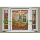 PVC Bay Windows With Clear Glass For Villas/Apartment, Energy efficient vinyl windows