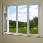 Casement UPVC Windows For House residential, White Color and Inward Opening Swing Windows