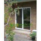White Color UPVC Sliding Door For Residential House, Energy Saving Vinyl Patio Door