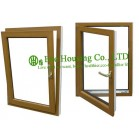 Tilt and Turn UPVC Windows For House residential, Wood Color Profile