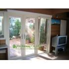 White Color UPVC Casement Door, Vinyl  Patio Door