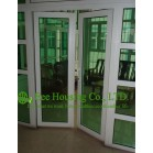 Customized UPVC Swing Door For Residential Apartment,White Color Profile Vinyl Casement door