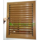 Wood Color Profile UPVC Louver Windows For House residential, Vinyl Shutter windows For Sale In China