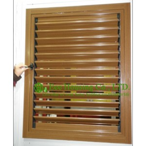 Wood Color Profile Upvc Louver Windows For House