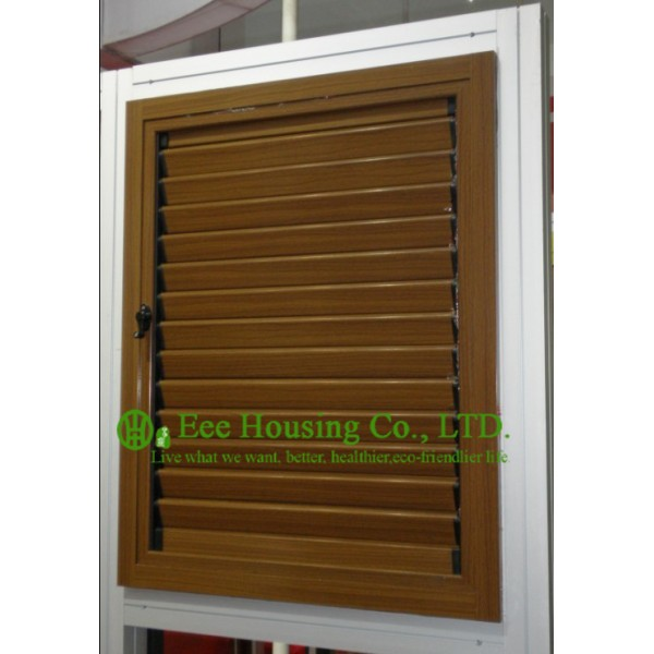 Wood color profile upvc louver windows for house for Residential windows for sale