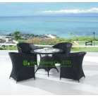 Outdoor PE Rattan Chairs and Rattan Dining Table For Sale, Durable and Eco-friendly
