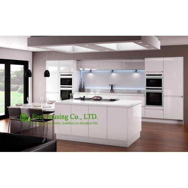 High Gloss Kitchen Cabinet With Lacquer Finish Kitchen Cabinets For  Apartment, Knock Down Packing Kitchen Cabinet