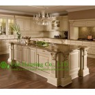 High Quality Solid Wood Kitchen Cabinet For Villas,Falt pack or Assembled pack