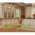 Classic Solid Wood Kitchen Cabinet For Villas, Fully customized Kitchen Cabinet