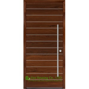 Contemporary Solid Timber Front Doors With Aluminum Strips Design ...