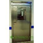 Restaurant Exit Door,Stainless Steel Fire Resistant Security Glass Door