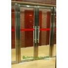 Building Entry Stainless Steel Glass Door,Double-leaf Stainless steel fire proof emergency exit door
