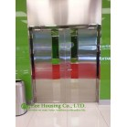Double-leaf Fire-rated Glass Door,Stainless steel fire rated emergency exit door