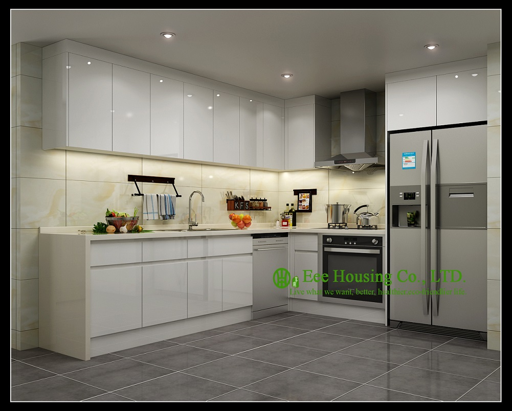 High gloss kitchen cabinet with lacquer finish kitchen for Kitchen cabinets 900mm high